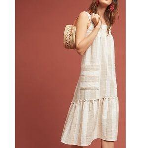 Anthropologie tonal stripe dress